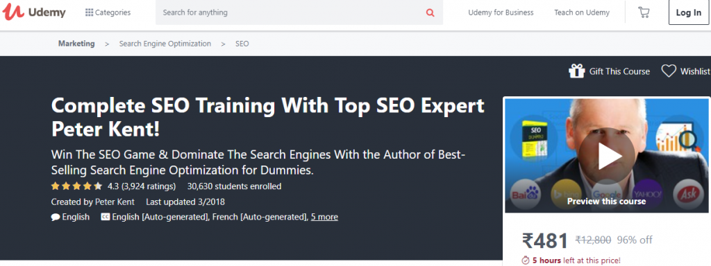 online seo course and training
