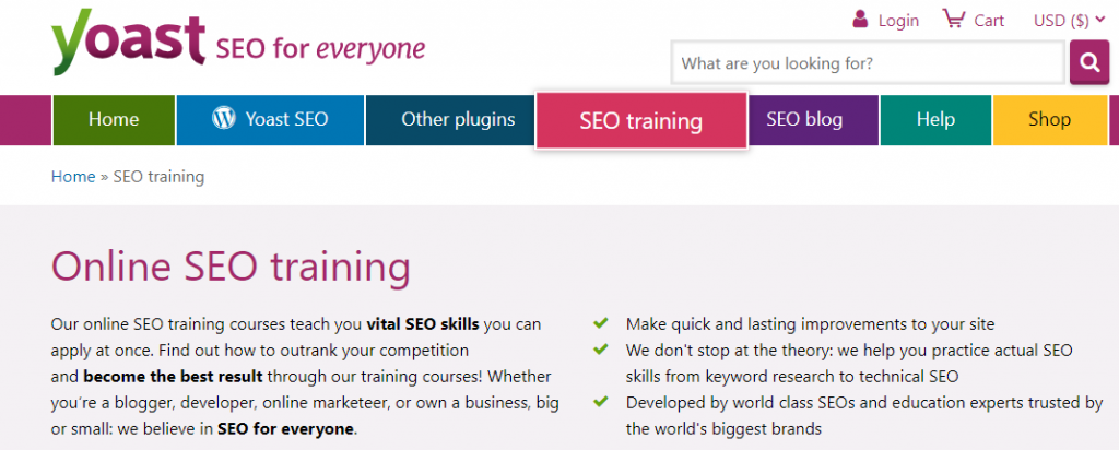 online seo training and courses